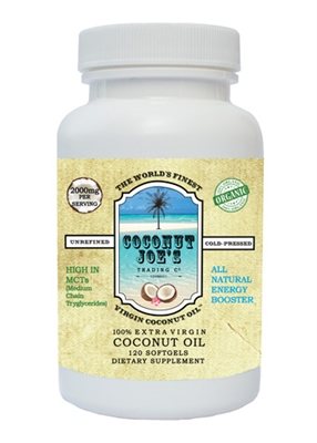 ORGANIC COCONUT OIL-1000MG-120-CT SOFTGELS
