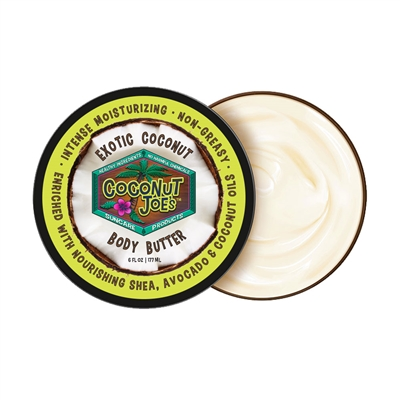 EXOTIC COCONUT BODY BUTTER-6OZ.